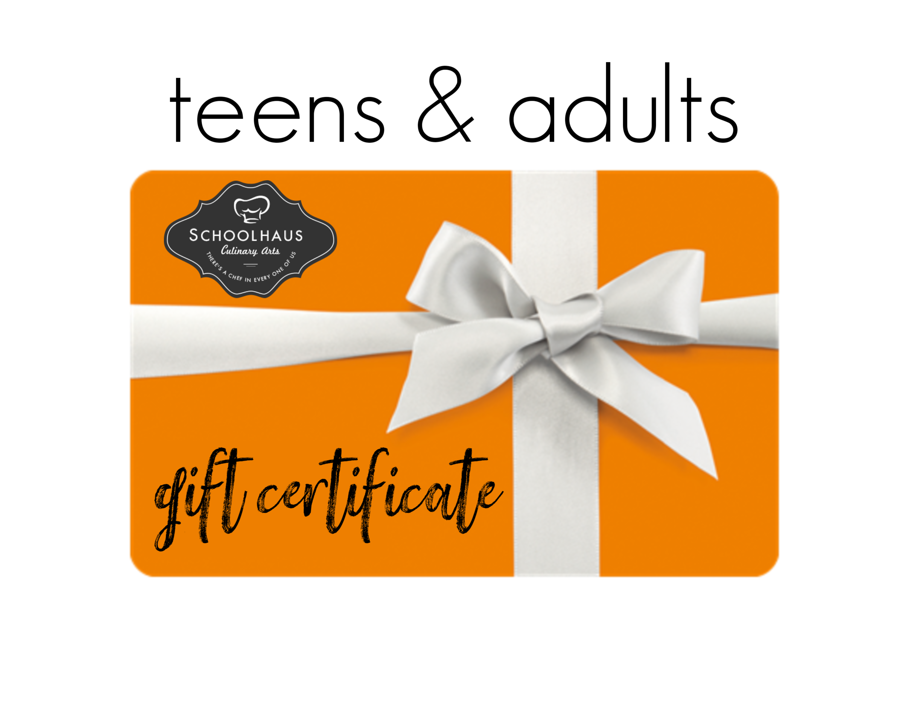 Gift Certificate Teens And Adults Schoolhaus Culinary Arts